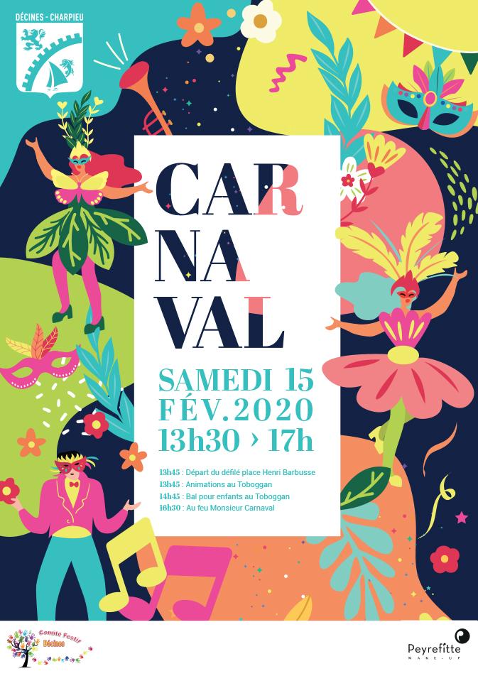 Affiche design de carnaval - Agence pub à Lyon AVICOM'