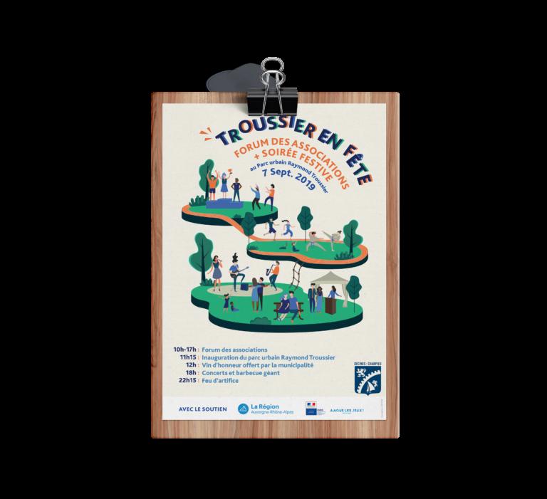 Création d'affiche et illustration graphique sur Lyon - Agence de publicité et design graphique - AVICOM' Lyon