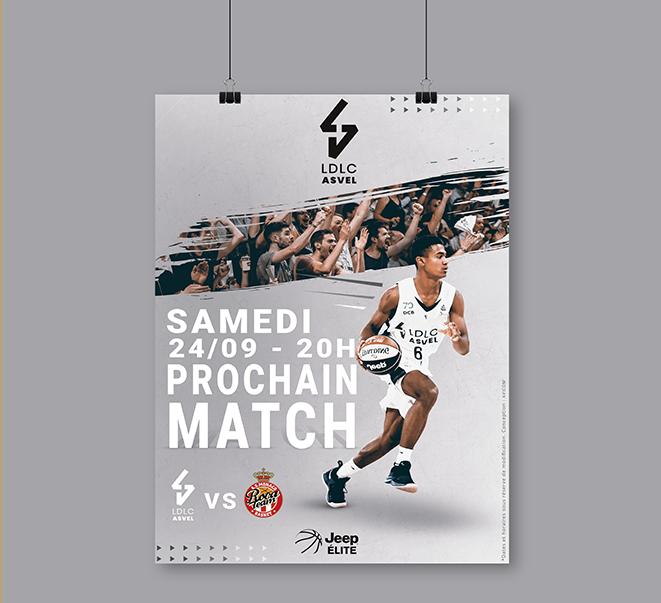 Création d'identité visuelle pour l'ASVEL basket - Agence de publicité et de communication à Lyon 6 - AVICOM'