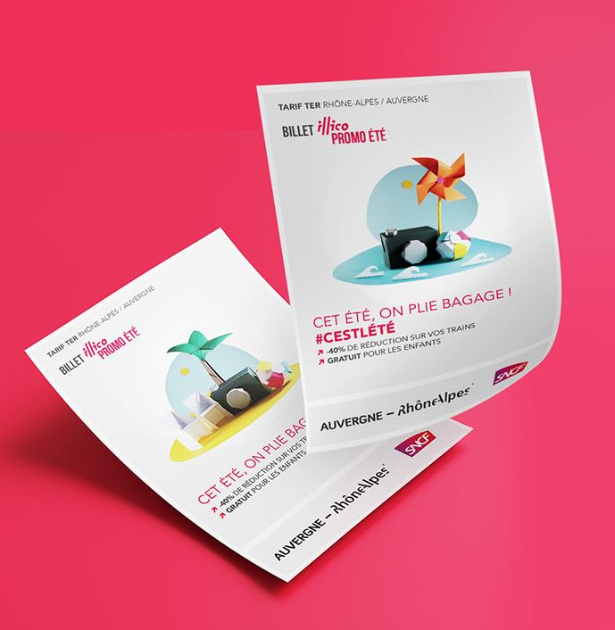 Création de flyer sur Lyon - Agence de publicité