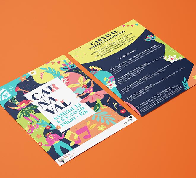 Affiche publicitaire et flyer design - Agence pub et créations design sur Lyon - AVICOM'