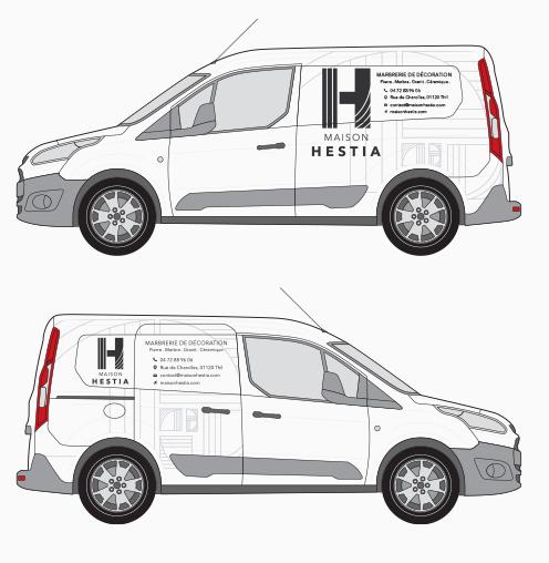 Création de design pour covering de voiture